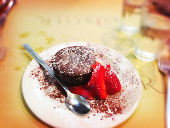 Decadent Chocolate Souffle at Ginger