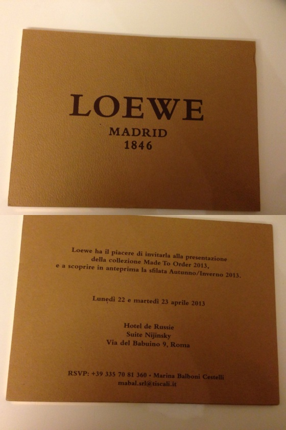 loewe made to order collection rome 3