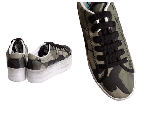 Sneaker with Camo Design ZOMG Military