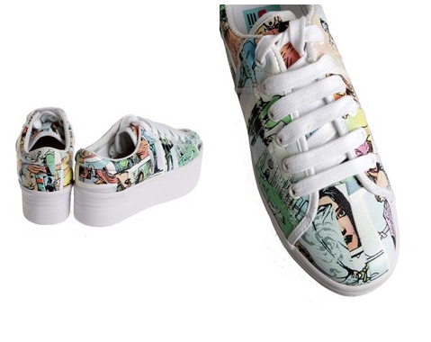 Sneaker with ZONG Cartoon
