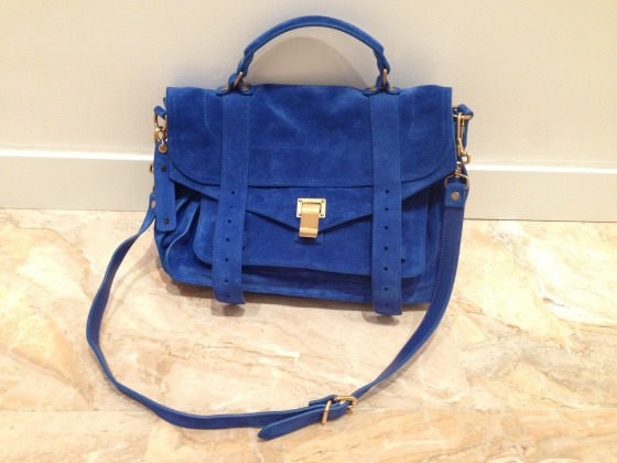 proenza shouler bag electric blue