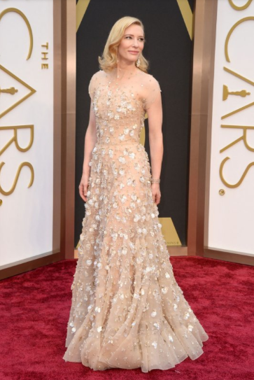 Cate Blanchett wearing Armani Privé and Chopard Jewels