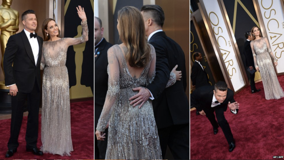 Best Couple: Brad Pitt in Tom Ford and Angelina Jolie in Elie Saab Haute Couture